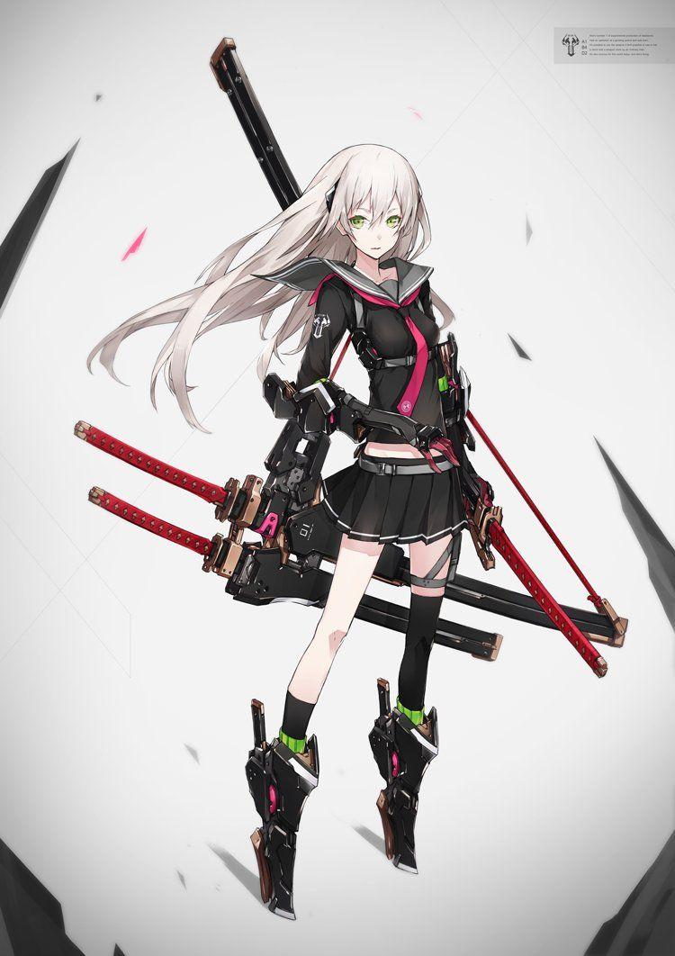 メディアツイート neco neco person さん twitter anime character design anime warrior katana girl