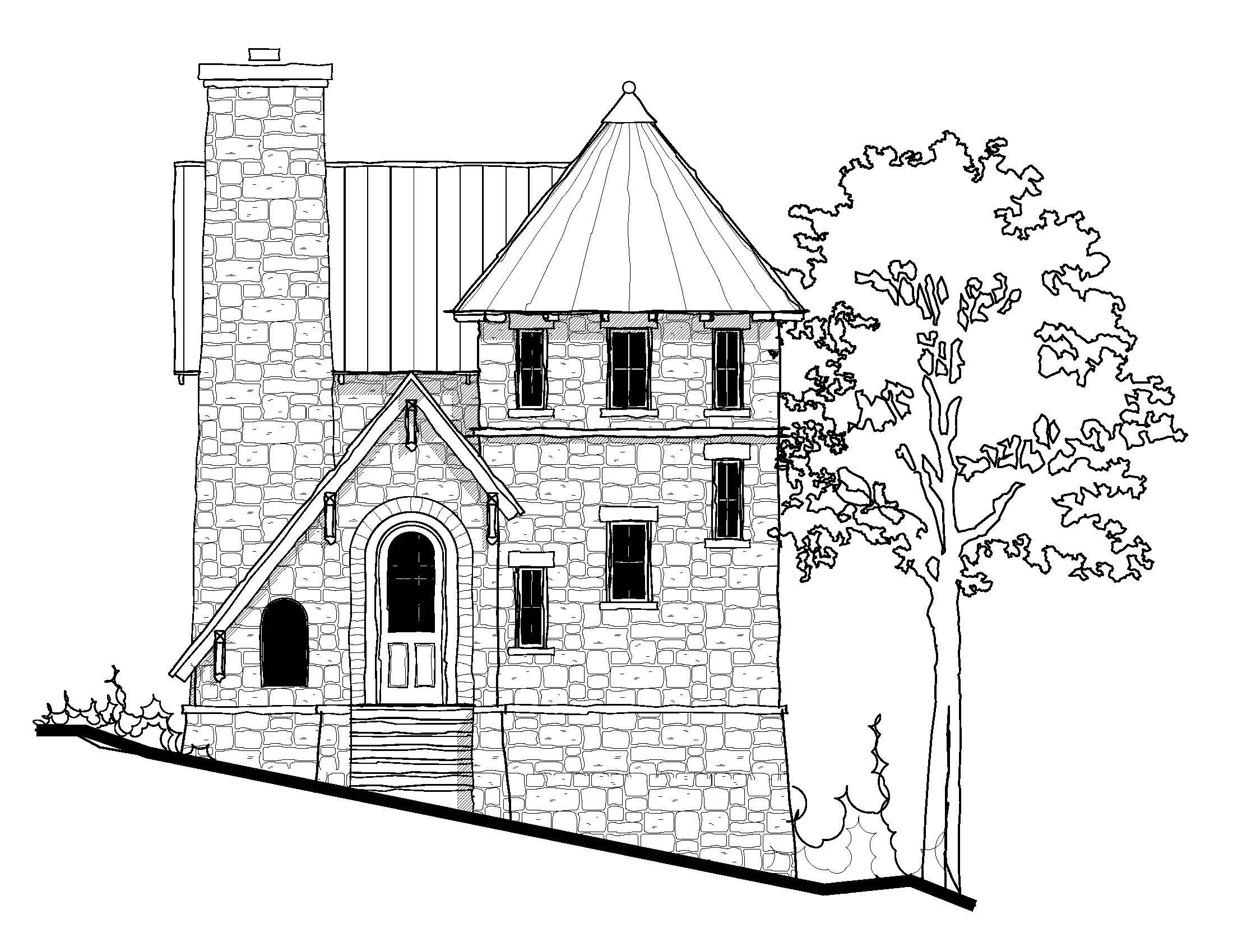 Tiny Castle 698 Sq Ft Castle House Plans Small Castles Castle House
