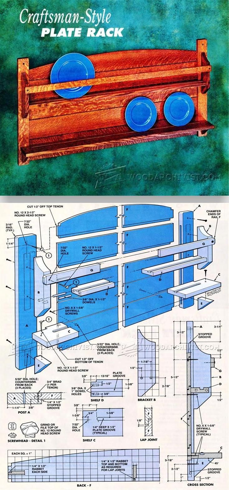 Plate Rack Plans Small Woodworking Projects Small Wood Projects Miniature Dollhouse Furniture