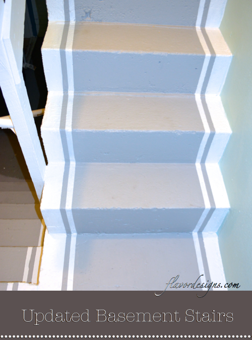 How to Paint Concrete StairsHow to Paint Concrete Stairs   Flavor Designs Blog   Pinterest  . Painted Basement Stairs. Home Design Ideas