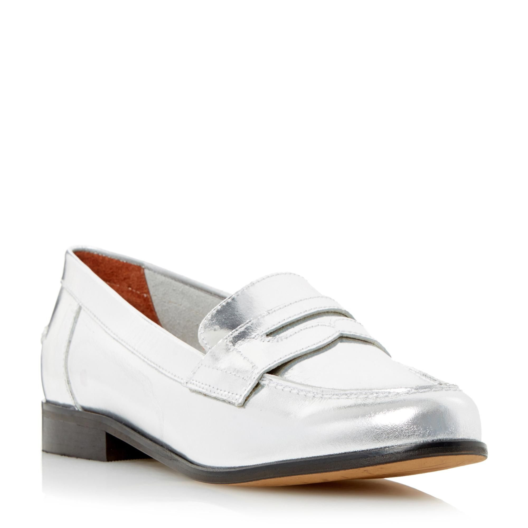 6a490413be5 DUNE BLACK LADIES GABY - Classic Flat Penny Loafer Shoe - pewter ...