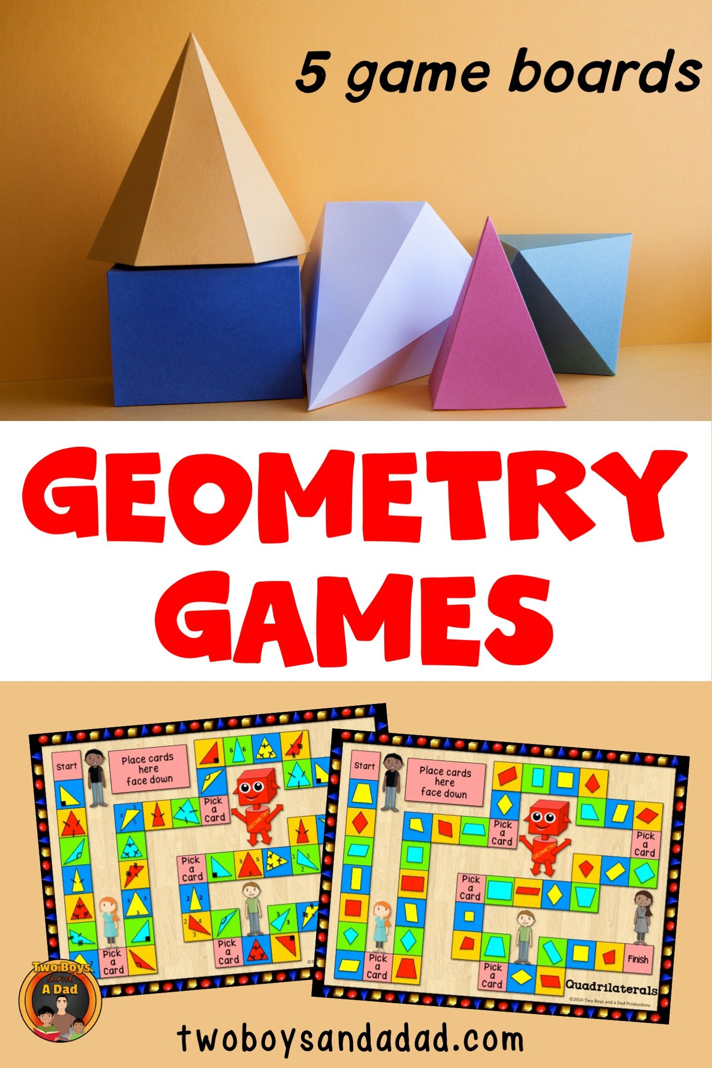 Geometry Games With Quadrilaterals Plane Figures Lines
