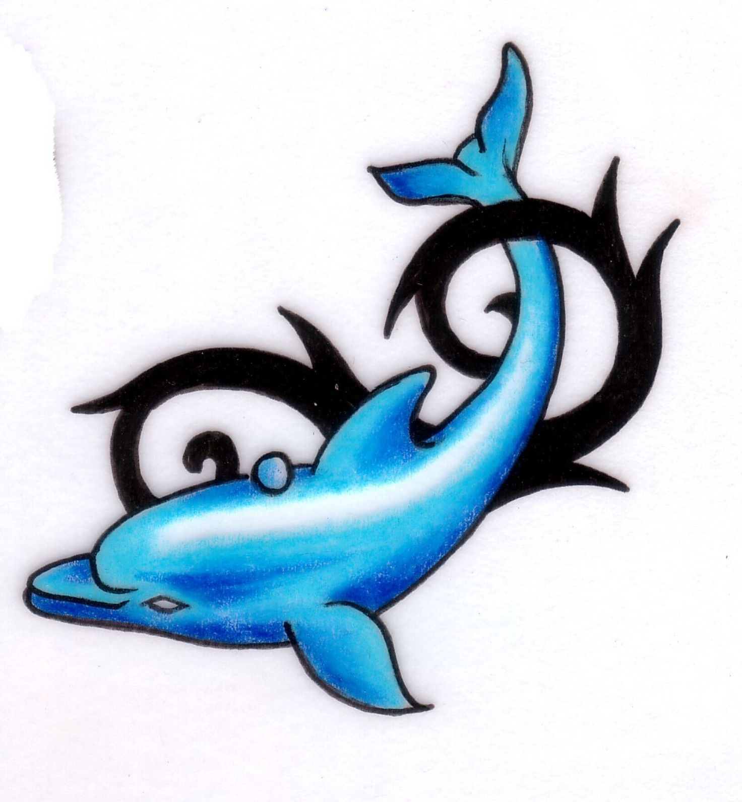Pics photos dolphin tattoo design tattoos art and designs - Dolphin Tattoo Designs Tattoo Art Love The Color
