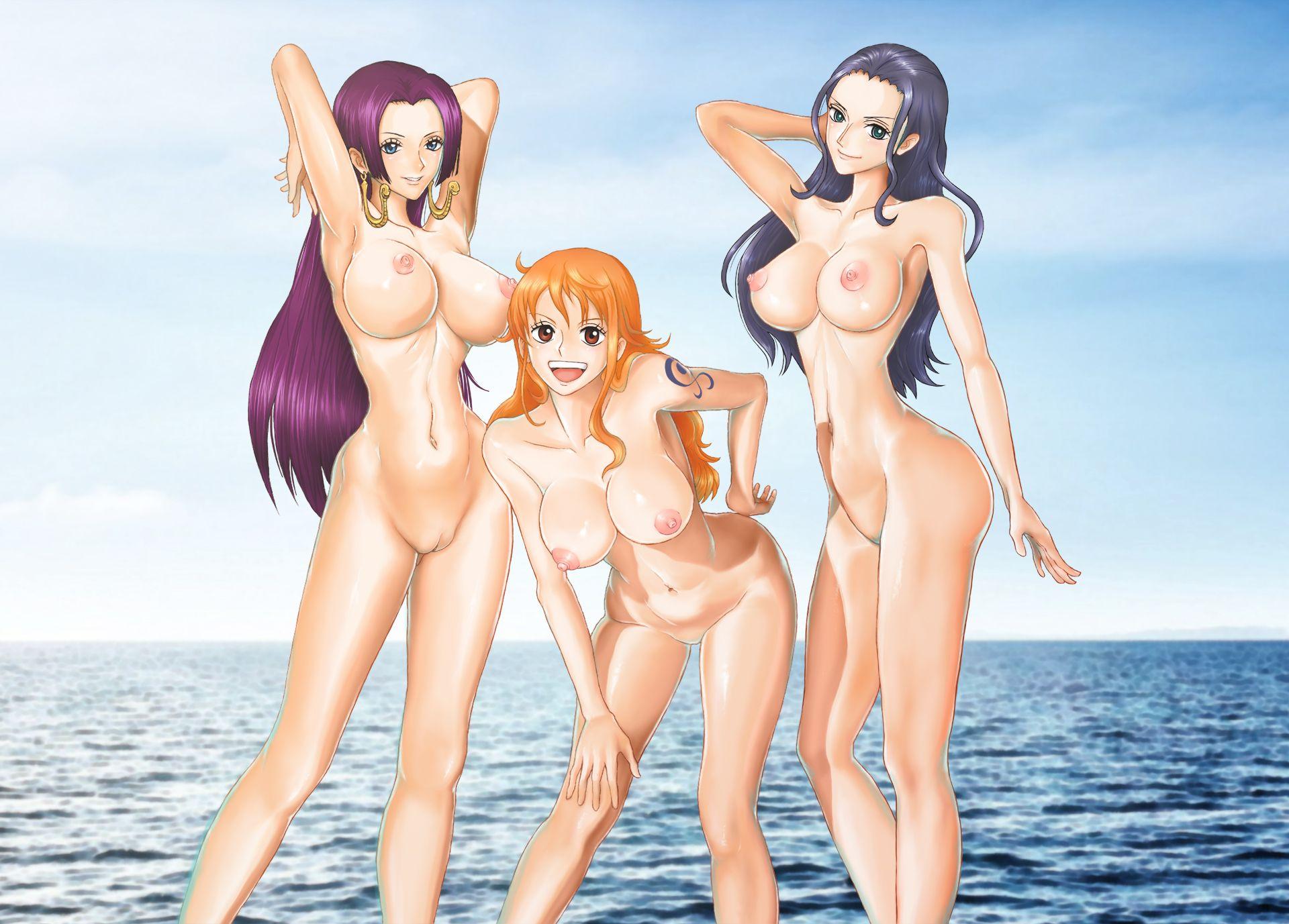 One piece ribin nude