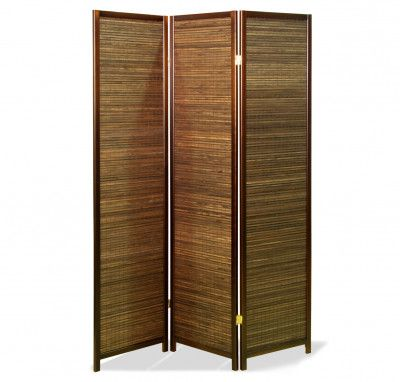 Paravent Sora Bamboo Natur 3 teilig Raumteiler, Bambus