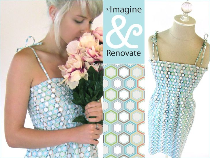 Re-imagine & Renovate - Wearables: Shirred Sundress | Sew4Home. Links included on how to shir fabric