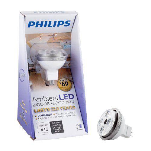 Philips 414960 Dimmable Ambientled 10 Watt Mr16 Indoor Flood Light