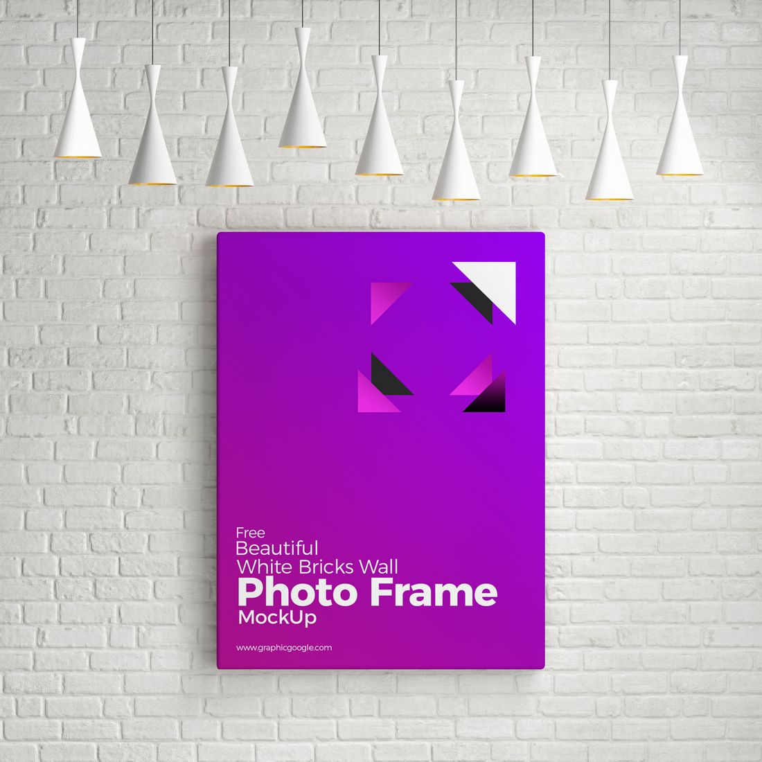 Free Beautiful White Bricks Wall Photo Frame Mockup Psd 7 19 Mb Graphic Google Free Photoshop Mockup Psd Beauti Photo Frame Wall Frame Mockups Frame