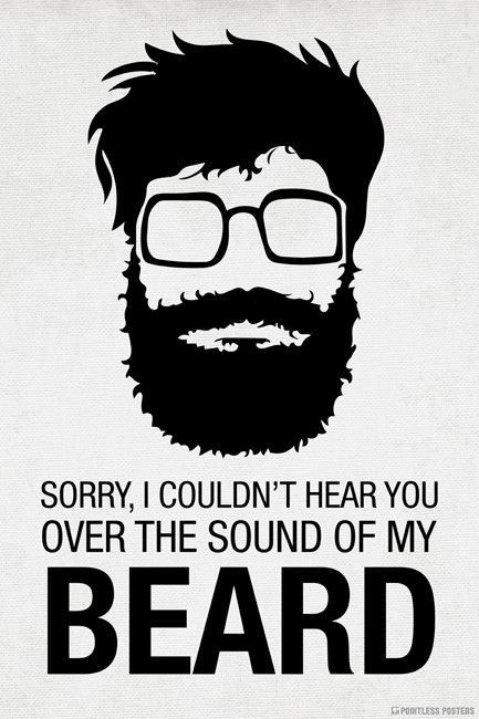 Sorry I Couldn\'t Hear You Over The Sound Of My Beard Poster