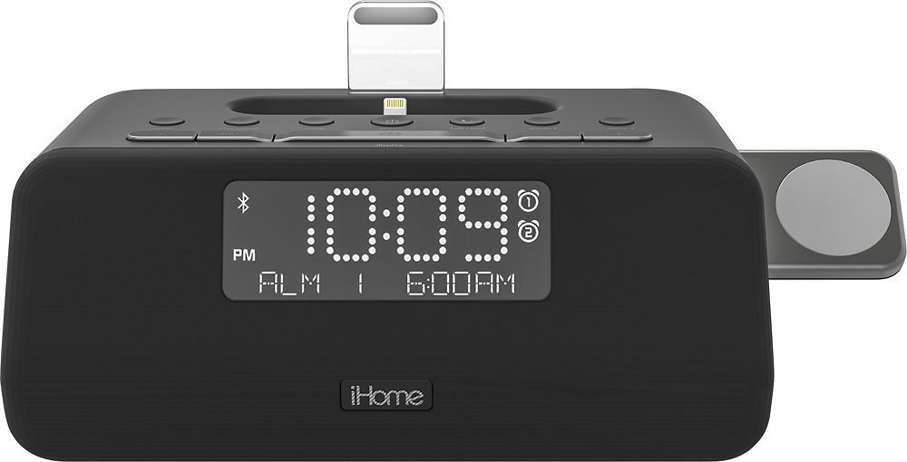 Best buy ihome fm docking dualalarm clock radio with