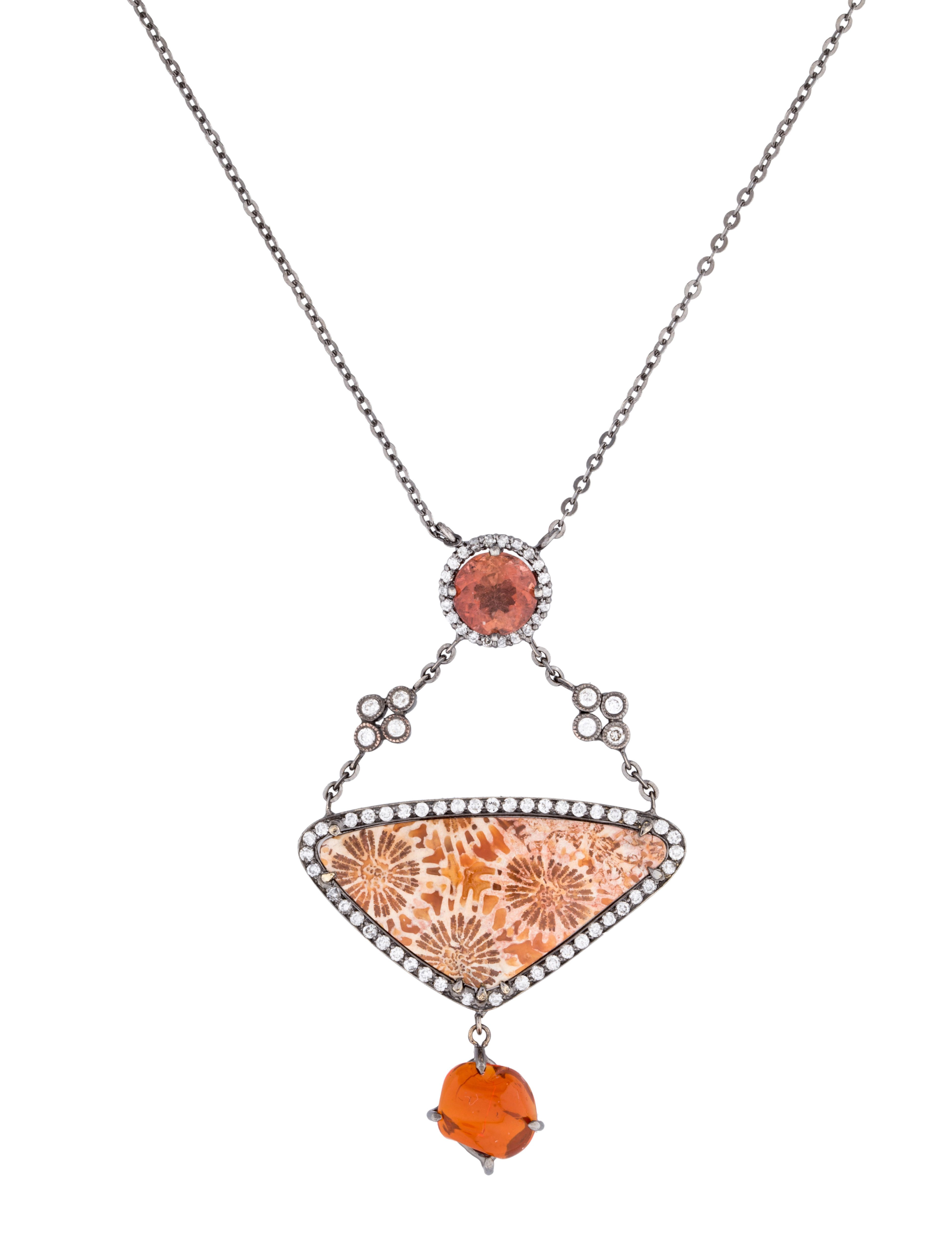 34324dc3f6e7a Fossil Coral Necklace in 2019   turquoise   Coral jewelry, Orange ...
