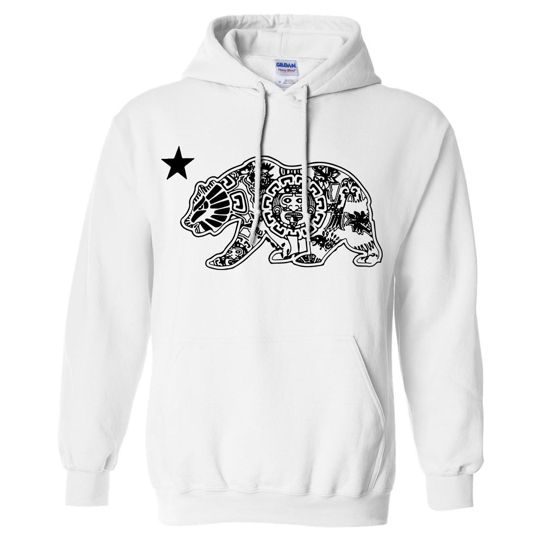 Aztec Bear Black Silhouette Sweatshirt Hoodie