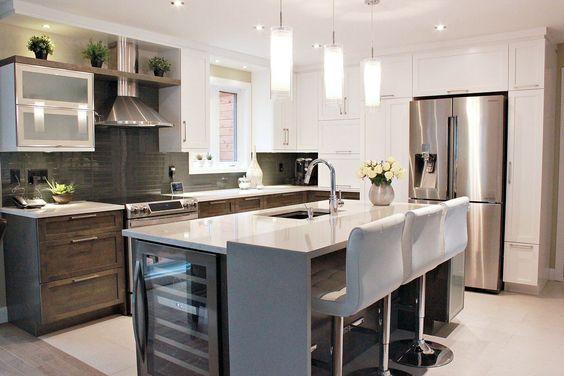 Cuisine contemporaine avec int gration d 39 un cellier dans l 39 lot maison pinterest cuisine - Cellier cuisine ...