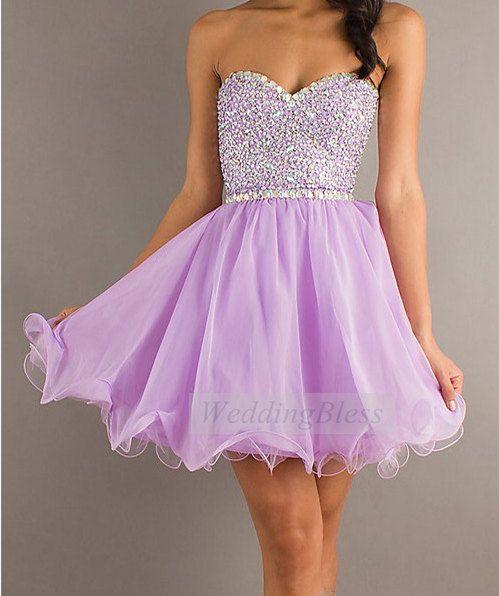 Evening Semi-Formal Lilac Dresses