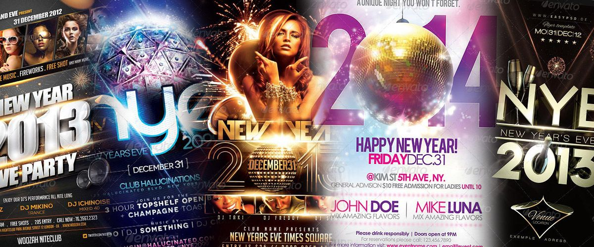 Top 20 Best of New Year PSD Flyer Templates Collection for - new year brochure template