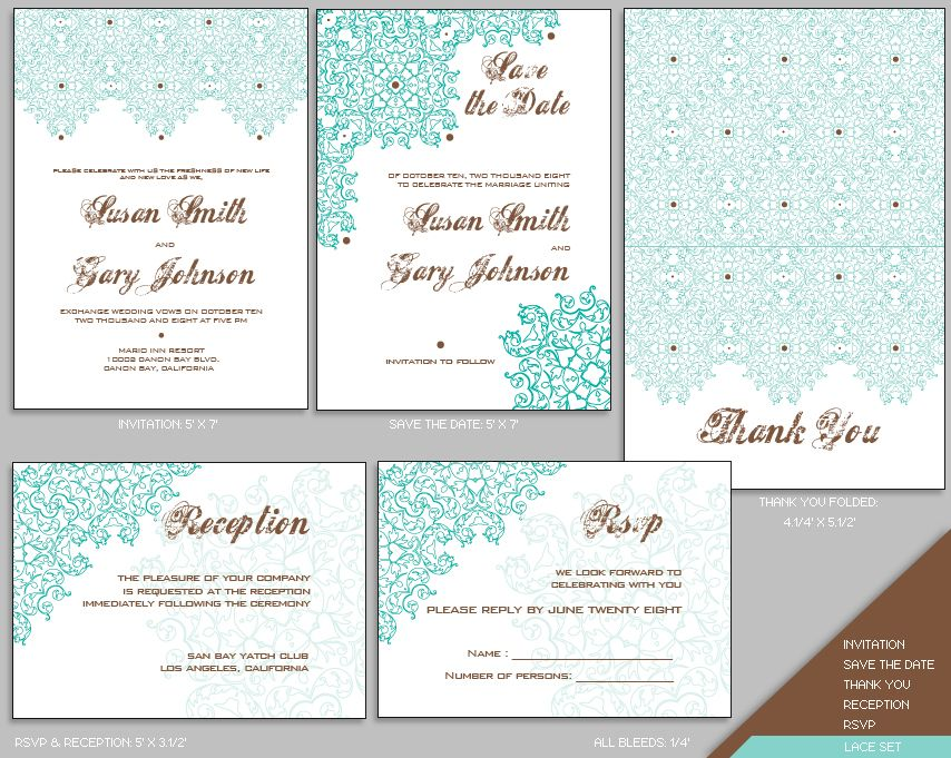 All in One Wedding Invites Image detail for -LACE WEDDING INVITATION - free downloadable wedding invitation templates