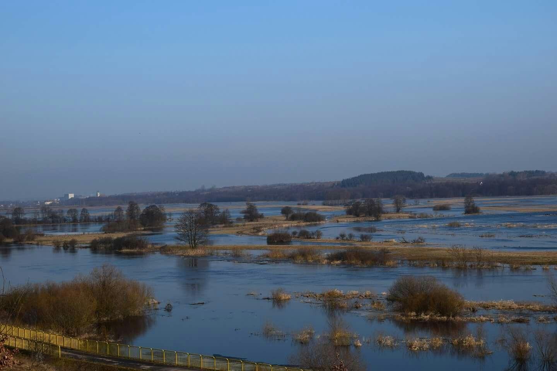 Rzeka Narew i jej rozlewiska okolice Starej Łomży