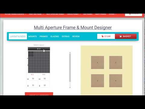 Design multi aperture picture frames and mounts online in the UK ...