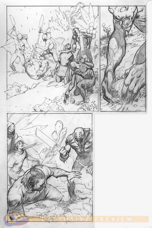 X-0 Manowar #2 pencils by Cary Nord