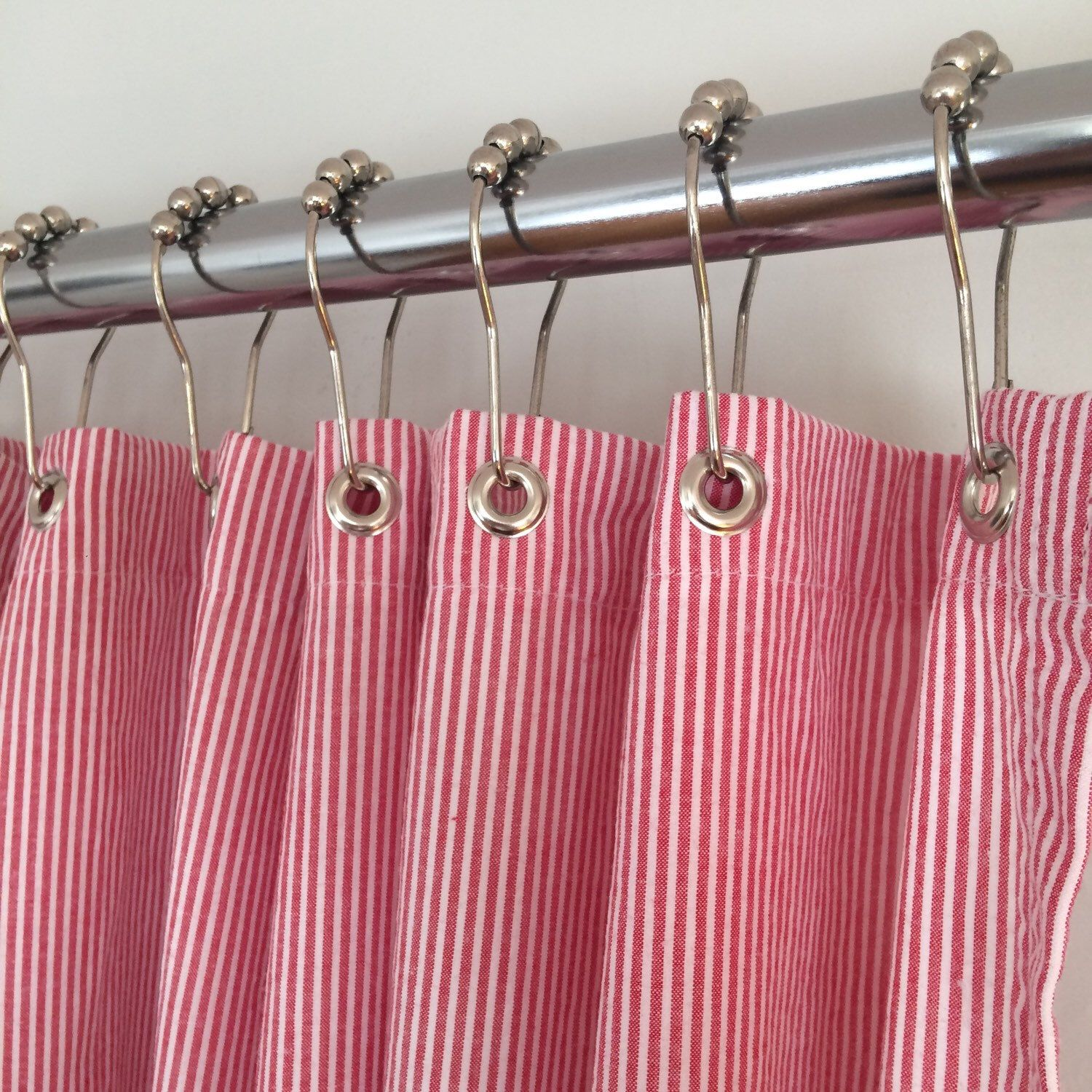 Seersucker Shower Curtains #madeintheusa Exclusively By Southern Ticking  Co. Are An Instant Bathroom Update