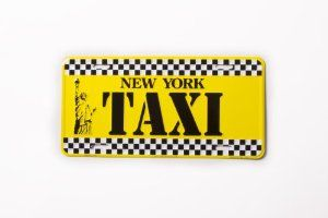 Amazon.com - NEW YORK TAXI- New York License Plate NY Yellow Cap Taxi Plate NYC Metal Statue of Liberty Plate NYC Plate Souvenir NY License Plates Decor Decoration - Decorative Signs