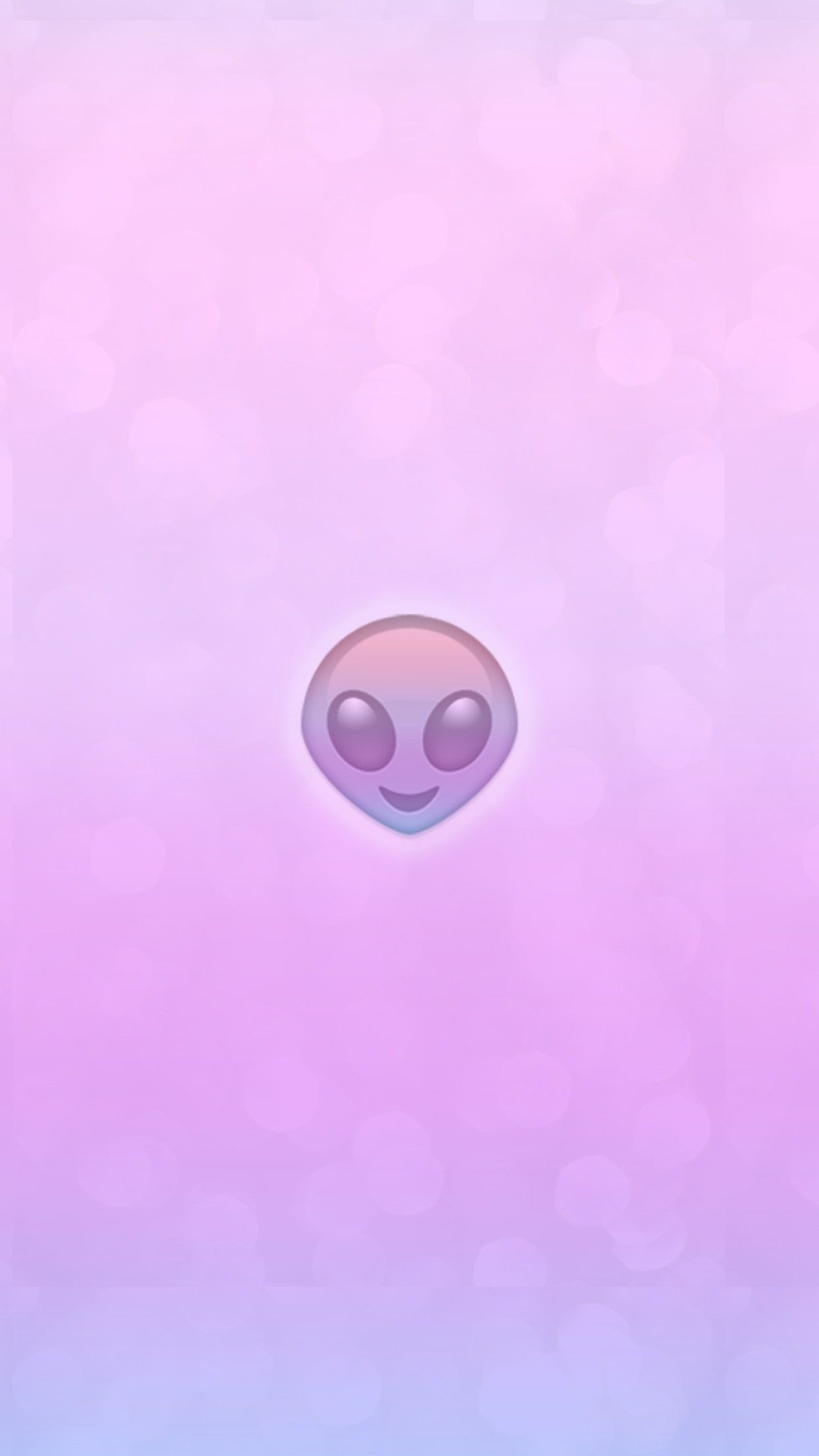 Wallpaper Background Iphone Android Hd Pink Purple Gradient Ombre Alien Emoji Iphone Wallpaper Emoji Wallpaper Iphone Emoji Wallpaper