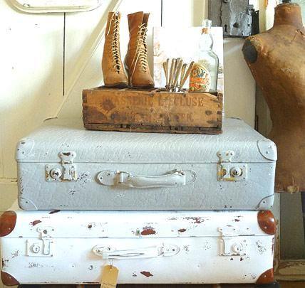 Shabby Chic Dekoideen zum Selbermachen Koffer, Shabby chic und - shabby chic deko wohnzimmer