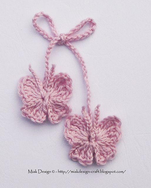 Free pattern Ravelry: Crochet Butterfly Free Tutorial pattern by ...