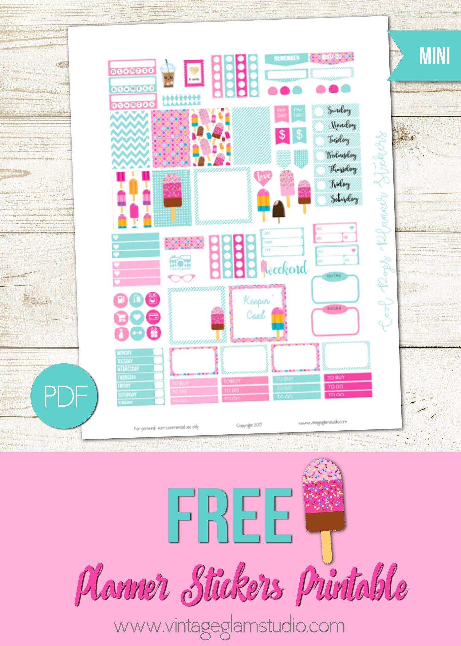 Mini Happy Planner Cool Pops Planner Stickers With Images