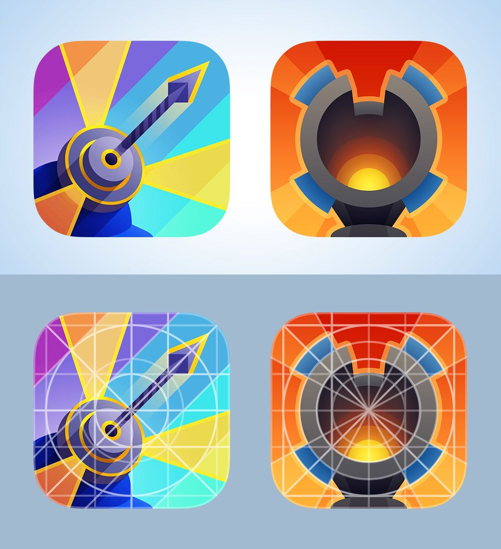Rejected icons for Defenders iOS game Ios games, Ios, Icon