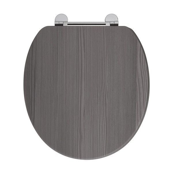 dark grey toilet seat. Frontline Avola Grey Wooden Toilet Seat with Chrome Fittings