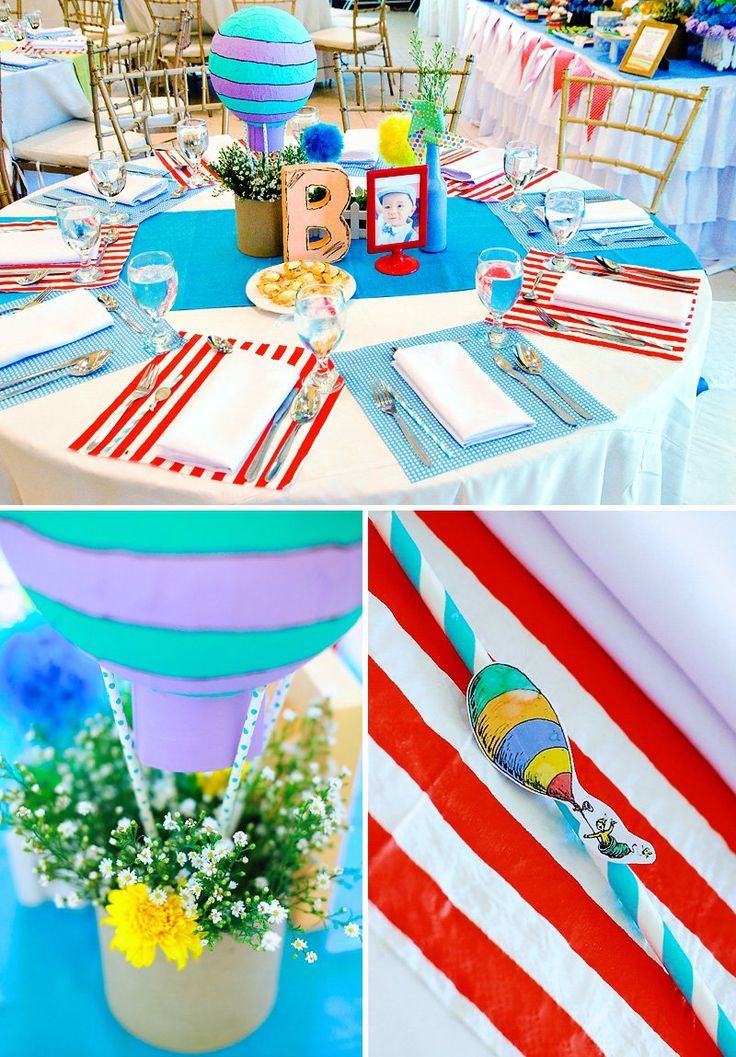 """Playful """"Oh the Places You'll Go"""" First Birthday Party"""