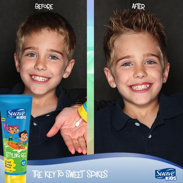 Give Your Suave Kid The Gift Of Sweet Spikes With Suave Kids Cool Ocean Blast Styling Gel Kids Hairstyles Suave Styling Gel