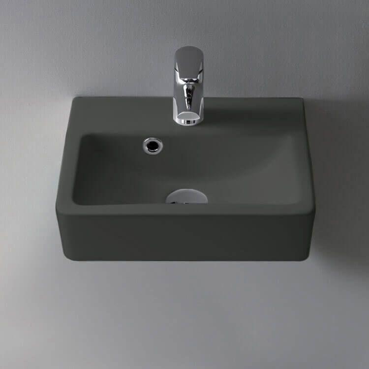 small matte black ceramic wall mounted