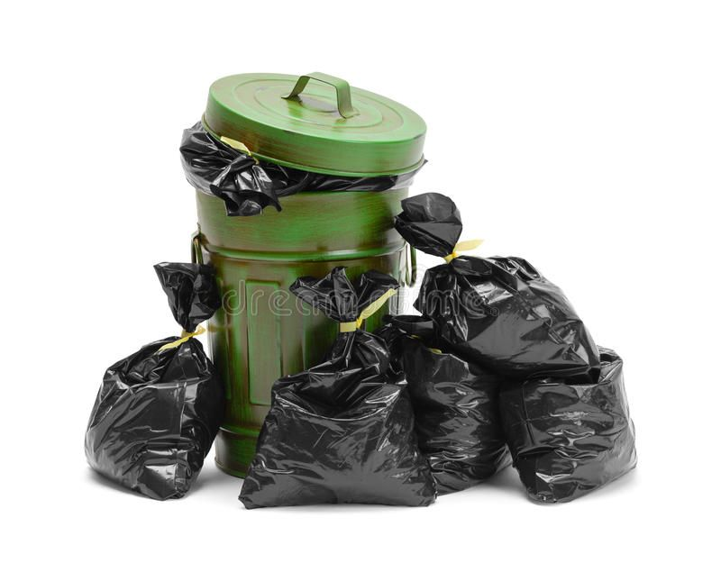 Trash Can And Bags Garbage Can And Pile Of Trash Bags Isolated On White Backgro Sponsored Garbage Bags Trash Trash Collection Trash Bag Trash Bags