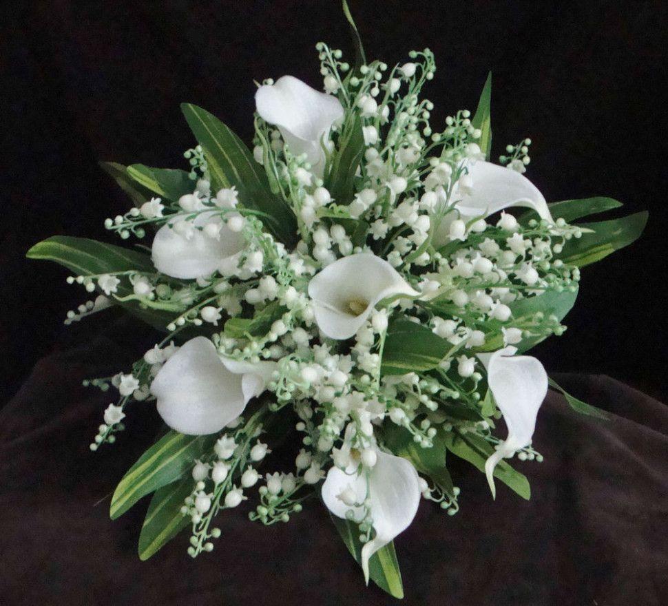 Свадебные букеты с ландышами и тюльпанами фото