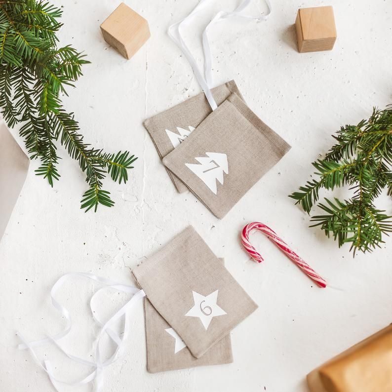 Christmas Advent Calendar Bags Scandi Advent Calendar Etsy In 2020 Advent Calendar Gifts Christmas Advent Calendar Christmas Advent