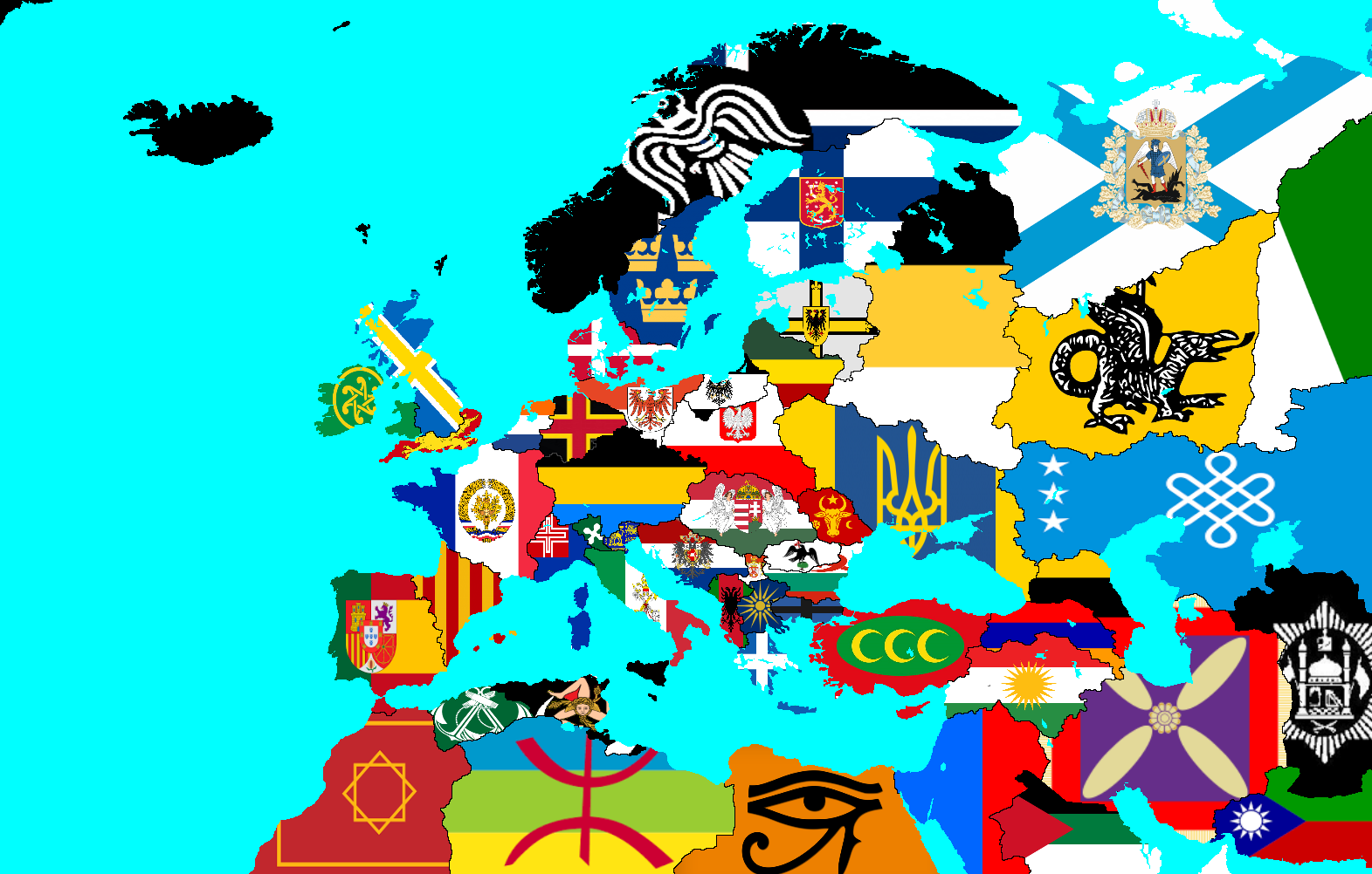 Alternative Map Of Europe.Image Result For Alternate Map Of Europe Alternate Flags And Maps