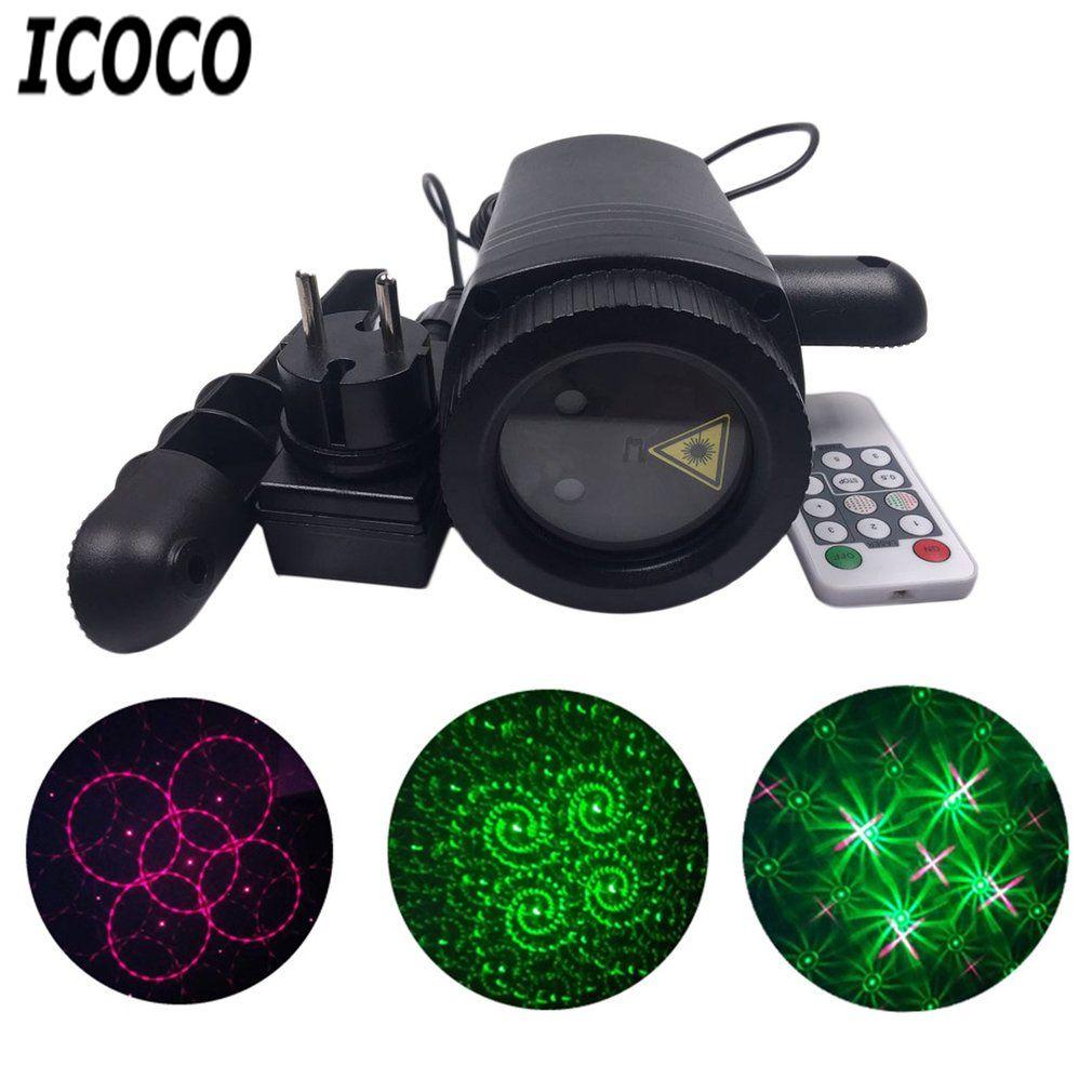 Icoco Led Lawn Lamp Dynamic Light Waterproof Change Pattern Laser Light Remote Control Party Landscape Spot Light For Uk Au Plug Commercial Lighting Lighting Outdoor Lighting