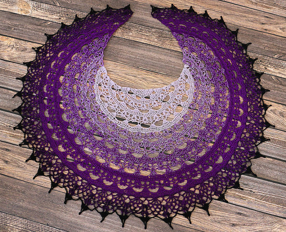 More Knitting Wheel Fashions : Wheel of time crochet shawl great gift ladies womans