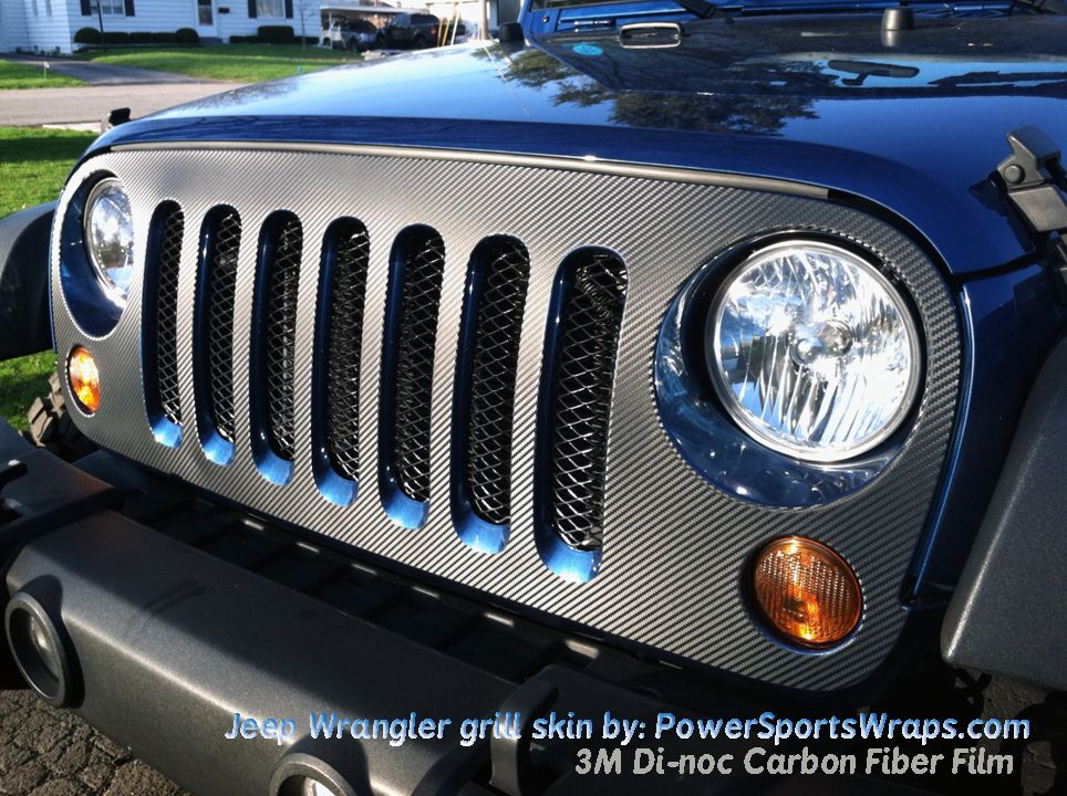 Take A Look At This Jeep Wrangler Grill Skin Wrap Done In M Di - Custom windo decals for jeeps