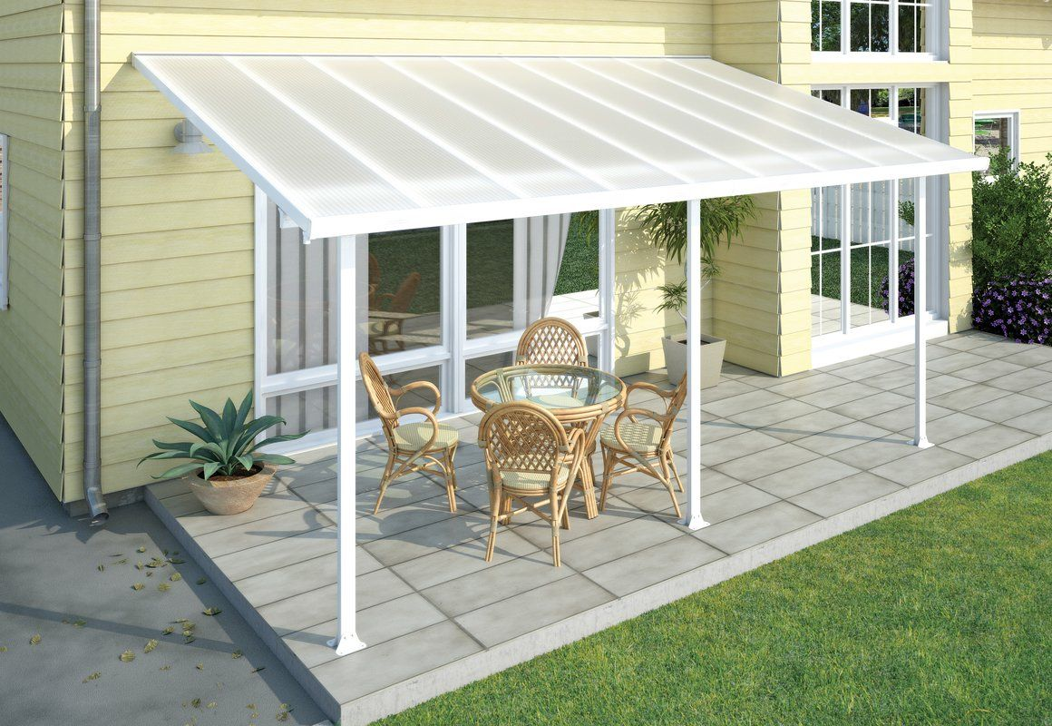 Feria 20 Ft W X 10 Ft D Plastic Standard Patio Awning Pergola Patio Aluminum Pergola Patio