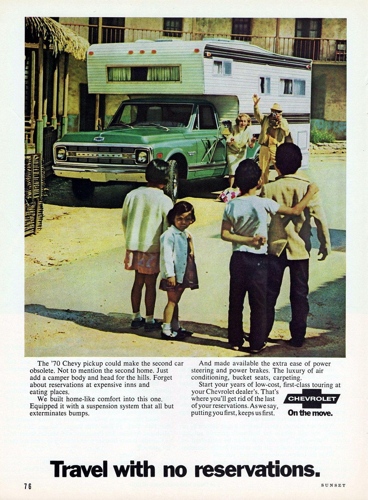 1970 Chevrolet Pickup With Camper Chevrolet Pickup Camper Chevrolet