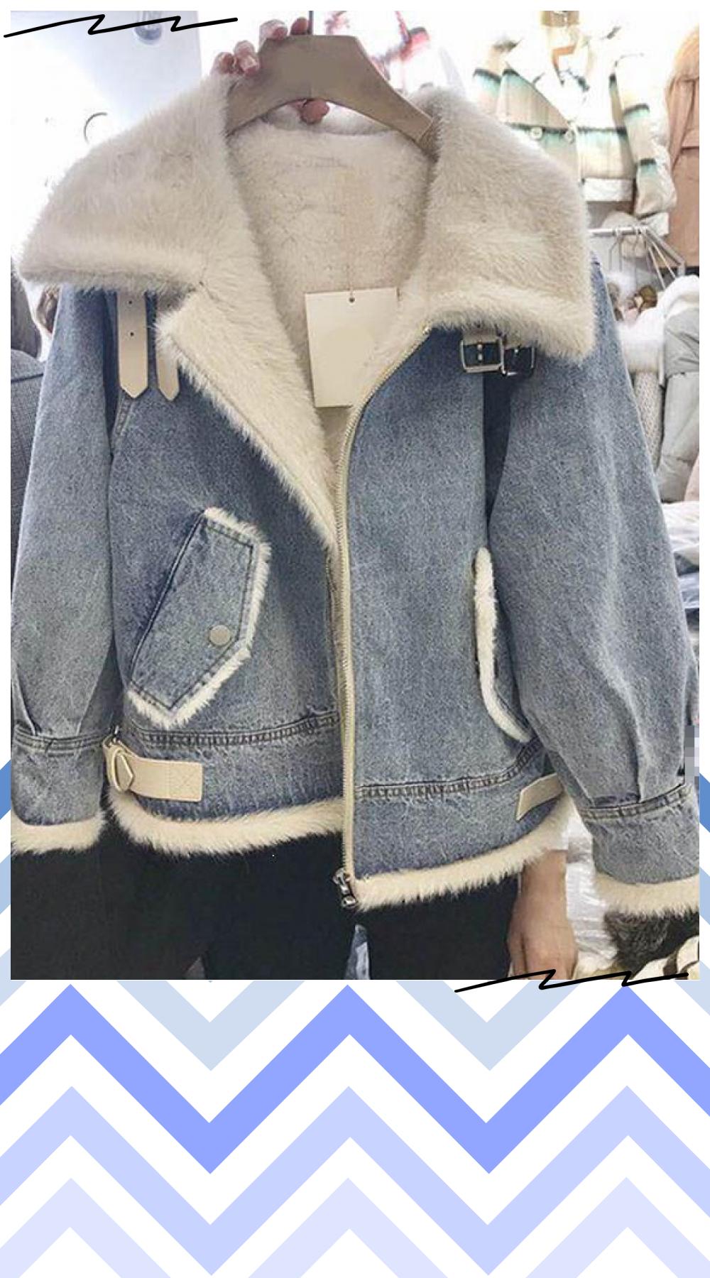 Womens Lamb Wool Jeans Coat Jackets Faux Fur Collar Padded Warm Outerwear Coats Basic Women Cowboy Denim Jacket Warm Outerwear Jeans Coat Jackets Jackets [ 1800 x 1000 Pixel ]
