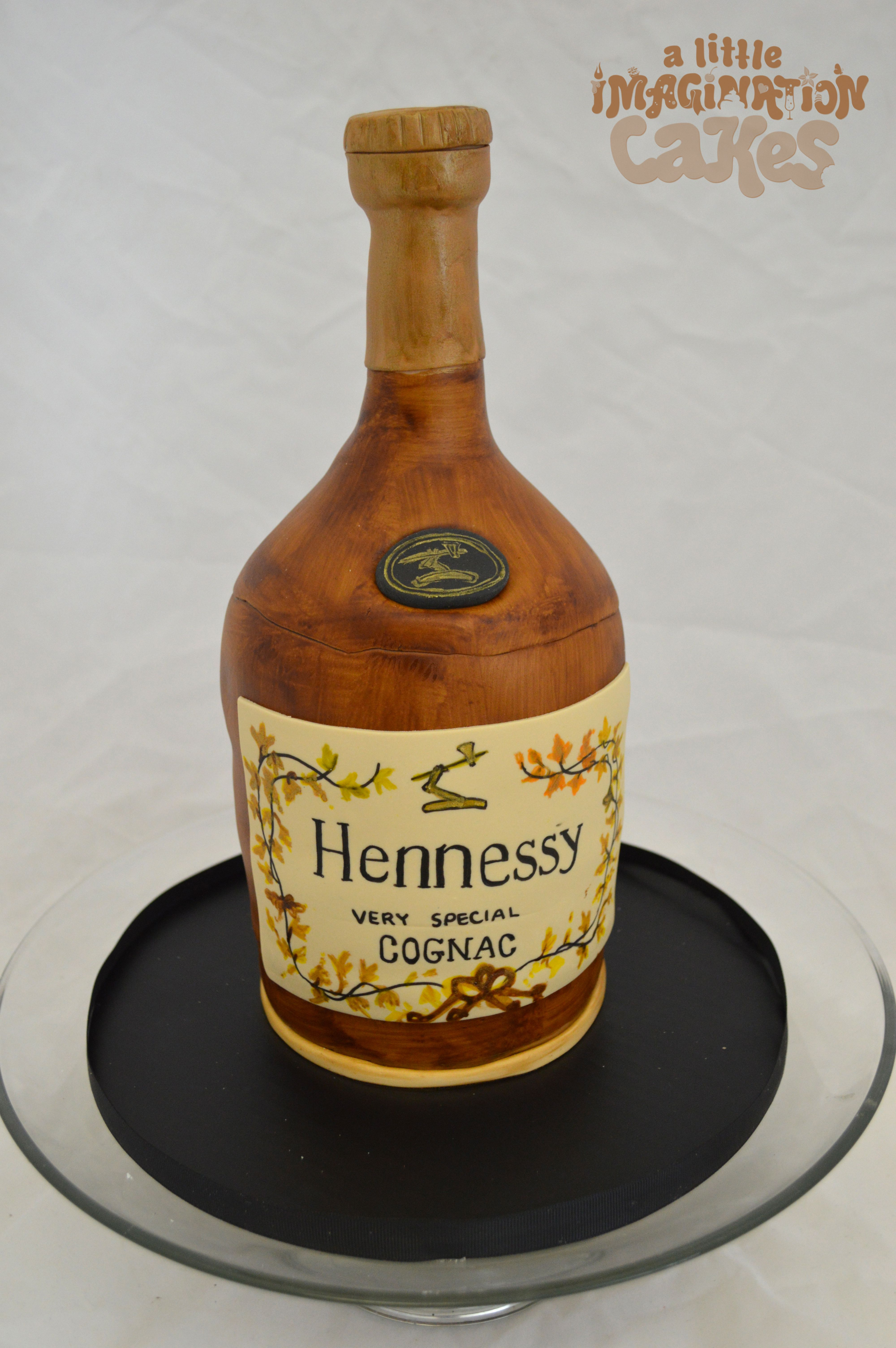 Hennessy Cognac Bottle Birthday Cake By A Little Imagination Cakes