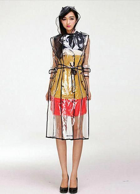 Hot sale transparent pvc vinyl raincoat runway style womens girls clear fashion rain coat also best plastic dress images in rh pinterest