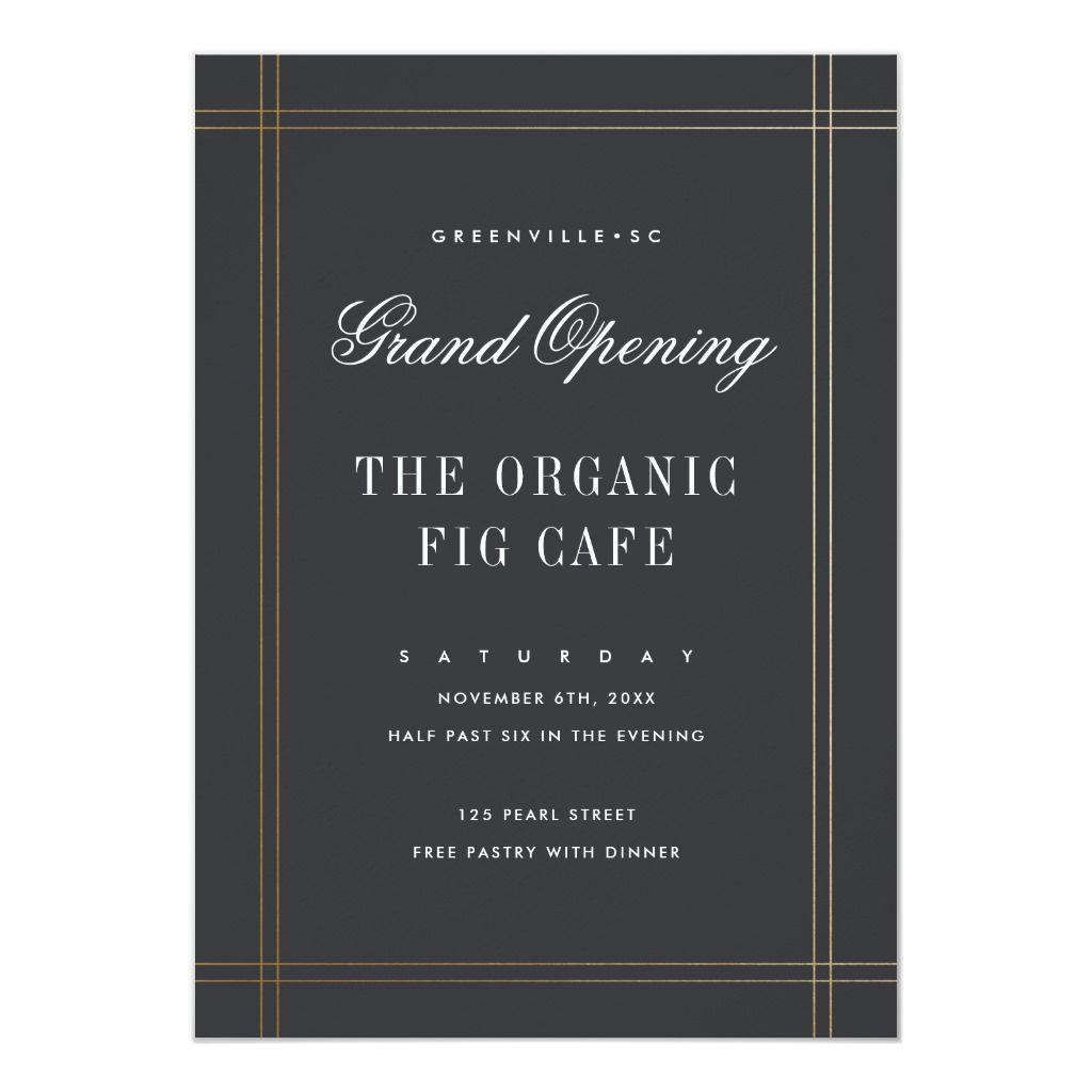 Formal Grand Opening Buisness Invitation Zazzle Com Grand