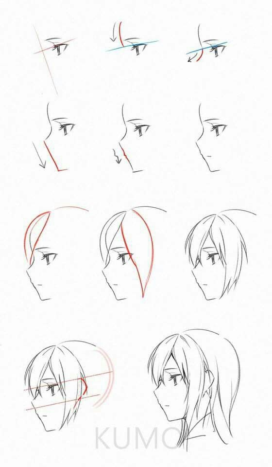 Side View Head Anime Drawings Tutorials Manga Drawing Tutorials Anime Drawings Sketches