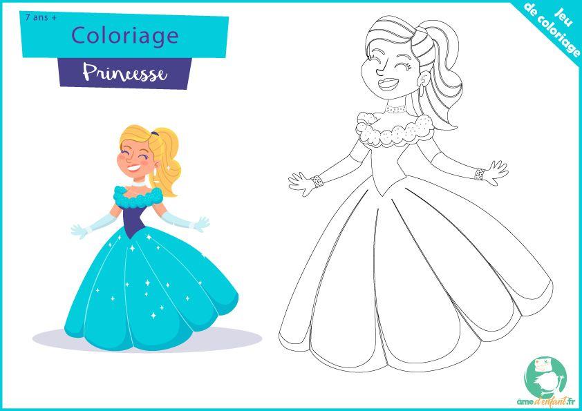 Coloriage de Princesse Gratuit en 2020 | Coloriage ...
