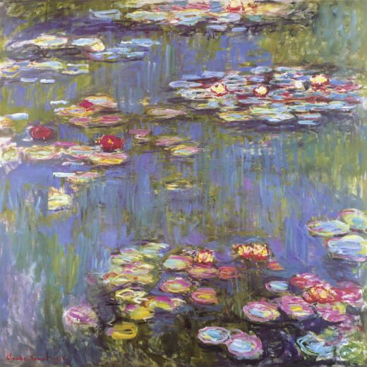 """Claude Monet """"Water Lilies"""" / $154 - $929 incl.20% VAT and Shipping / Click http://mondialart.co.uk/product/water-lilies/ #art #painting #mondialart #replica"""